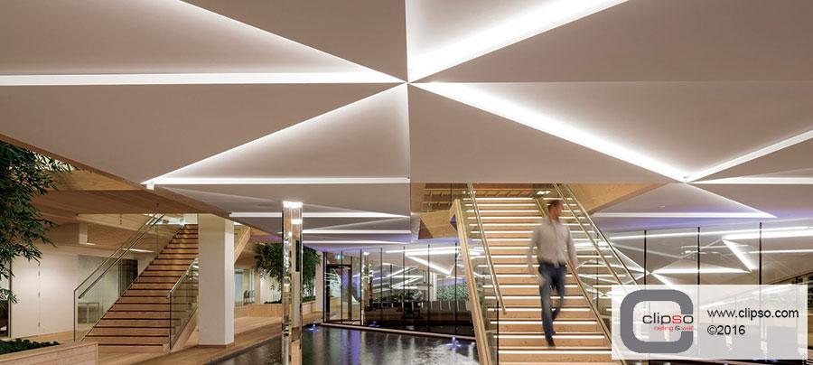 illuminated ceiling