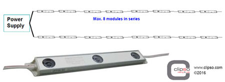 LED module lighting diagram