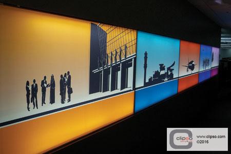 backlighting walls