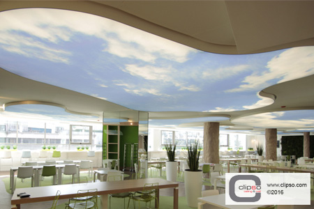 custom print ceiling cloud