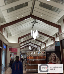 ceiling wall galleries commercial mall
