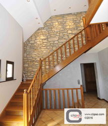 ceiling wall galleries residential stairway