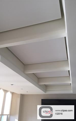 corporate office backlit ceiling tile