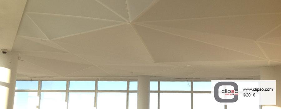 LED color backlighting ceiling