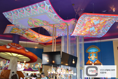 acoustic custom print ceiling cloud