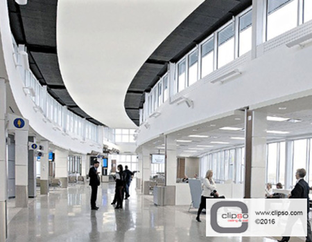 airport terminal acoustic ceiling panels