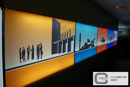 sita aero wall frames backlit custom print