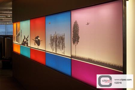 sita aero wall frames backlit custom print 2
